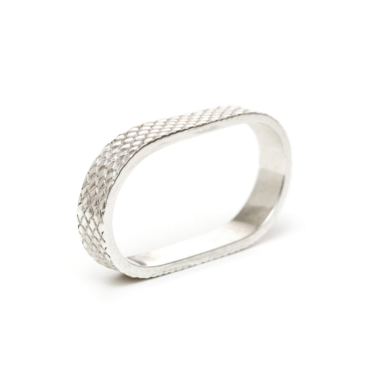 Taïs : Two-finger ring snake skin made with solid silver ...